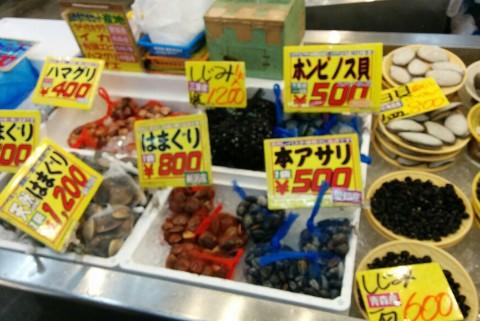 アサリや蛤などの貝類