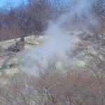 新湯爆裂噴火口跡と新湯温泉神社に行った