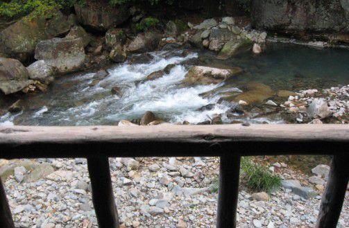 風の谷の湯から見えた景色