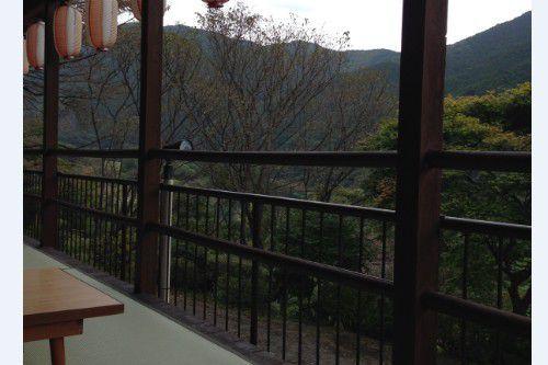 雪の屋の屋外座敷席からの眺め