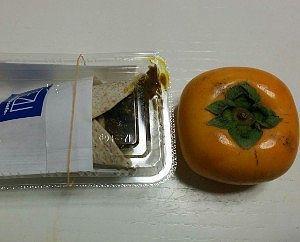 大塔ハンドカレーと柿
