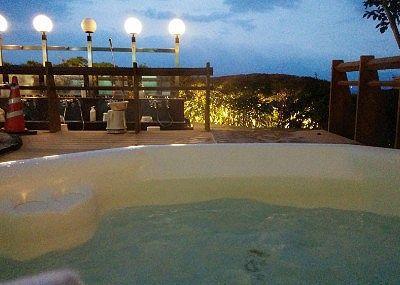 露天ヒャグジー風呂からの景色