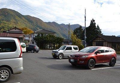 滝の駅吹割の駐車場の様子