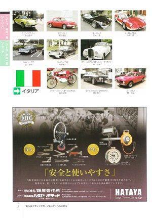 イギリスとイタリアのクラシックカー一覧