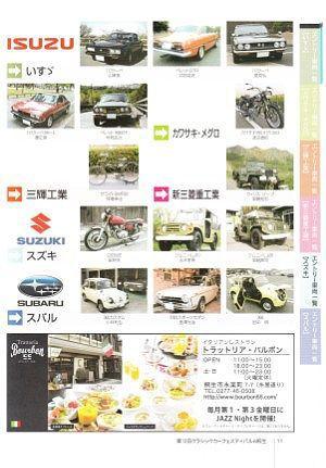 いすゞ、三輝、新三菱、スズキ、スバルのクラシックカー展示車両一覧
