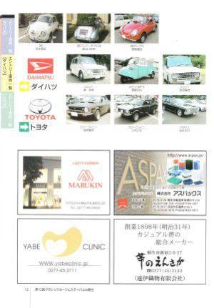 スバル、ダイハツ、トヨタのクラシックカー展示車両一覧