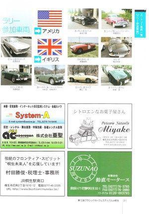 ラリー参加のクラシックカー展示車両一覧1