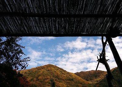 岩鏡(混浴露天風呂)の屋根部分