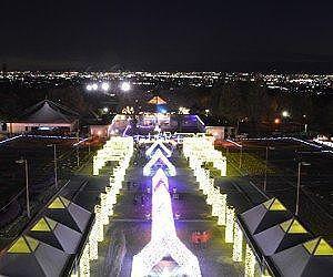 パークタワーから見た夜景とイルミネーションのコラボ