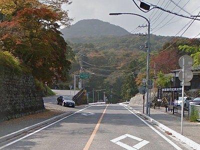徳冨蘆花記念文学館前の道路の様子