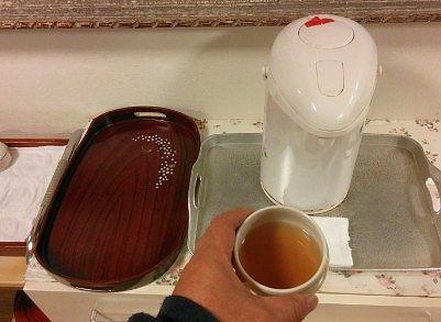 無料のお茶のサービス
