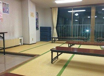 畳敷きの大広間