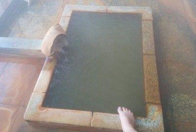 貸切風呂憩の湯舟の大きさ