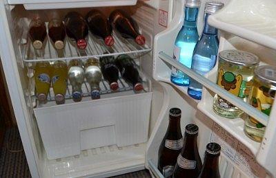 冷蔵庫の中の飲み物