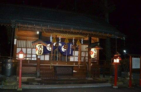 夜の伊香保神社