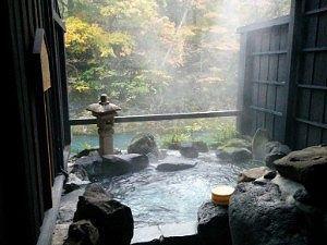 昼間の貸切風呂山懐の湯の様子
