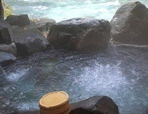 貸切風呂小舟の湯のジャグジーの様子