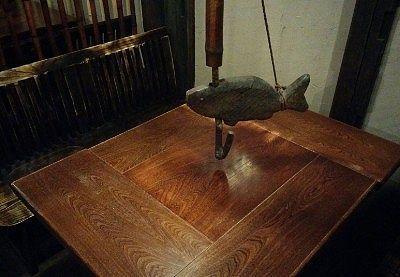 囲炉裏風テーブルの様子