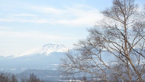 万座ハイウェイから見えた浅間山の景色