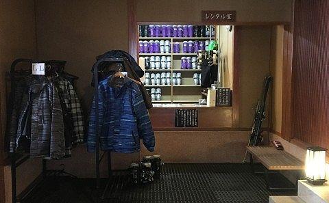 スキー、スノボのレンタル室