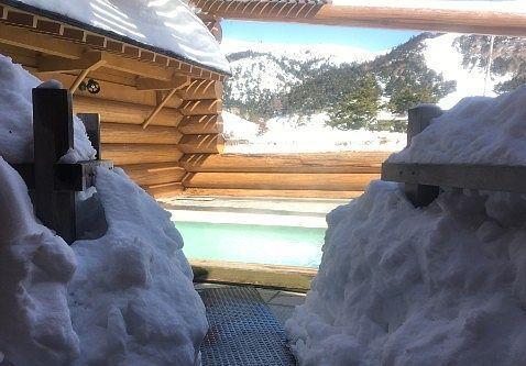 雪景色が楽しめる露天風呂