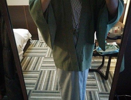 浴衣と茶羽織