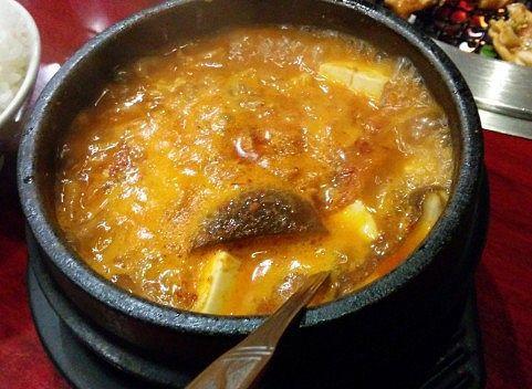 沸騰してた豆腐チゲ
