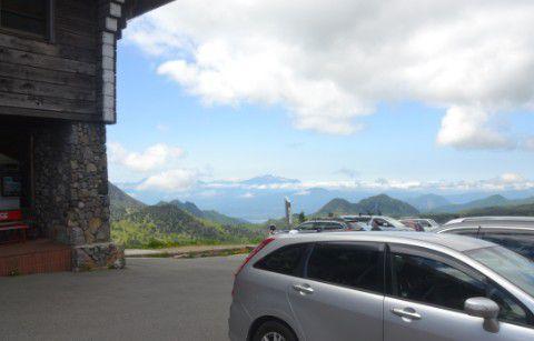 横手山ドライブインからの景色