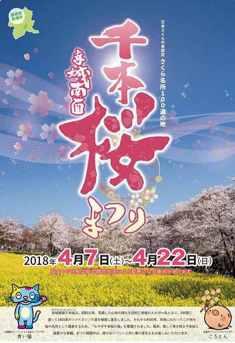 2018年4月7日~4月22日に今年の千本桜まつり開催