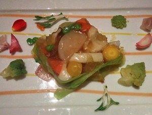 カナダ産オマール海老と季節野菜のテリーヌ