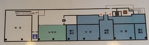 湯の郷湯西川観光センター2階館内マップ