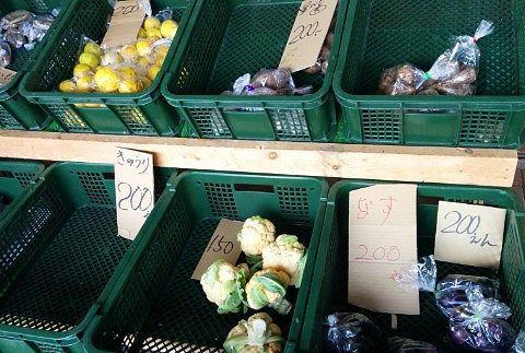 農産物直売の野菜など