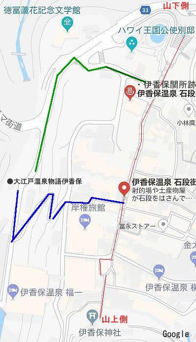 大江戸温泉物語伊香保から石段街までの行き方