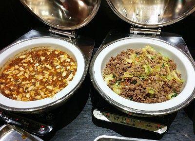 麻婆豆腐と牛カルビのブルコギ風