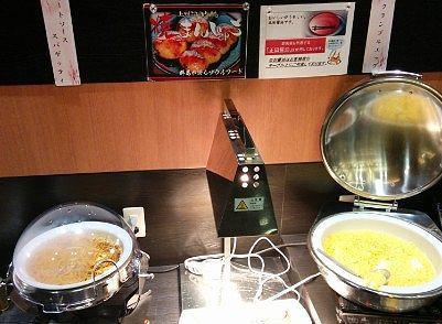 ミートソーススパゲティとスクランブルエッグ