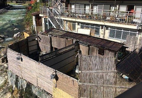 金井旅館の露天風呂