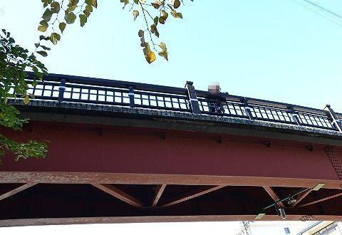 薬研の湯から橋を見た様子