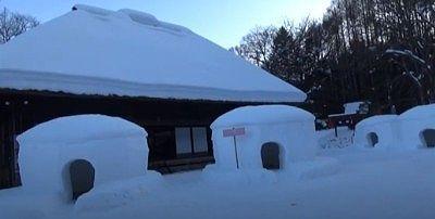 冬の平家の里の様子