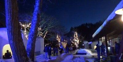 冬の夜の平家の里