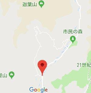 上発知材木町線 迦葉山の場所