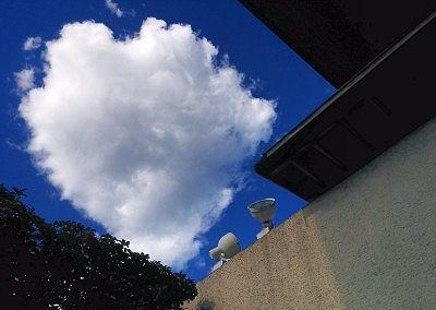 露天風呂に入りながら空を見た時