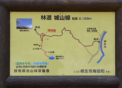 林道城山線の地図