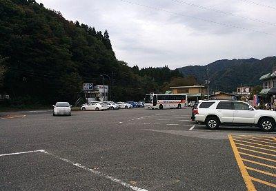 龍王峡無料駐車場の様子
