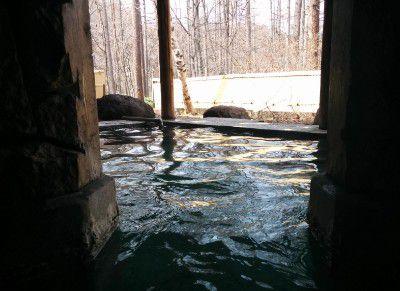 洞窟風風呂からの眺め