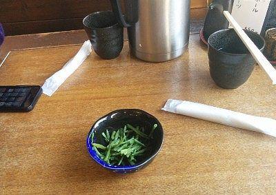葉わさびの小鉢