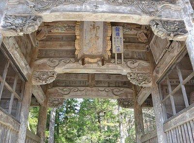 随神門の天井の様子