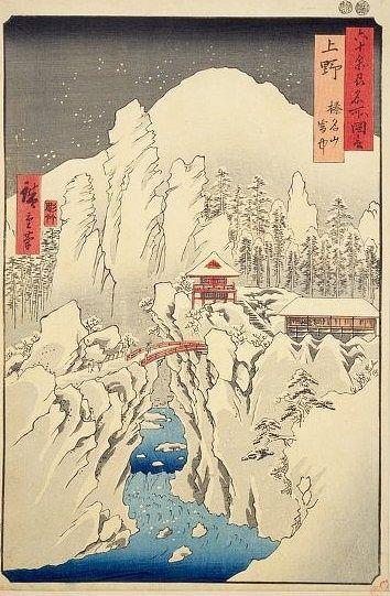 榛名山雪中図