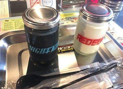 カフェで注文したプリン二個