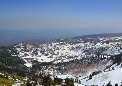 国道最高地点から見えた景色