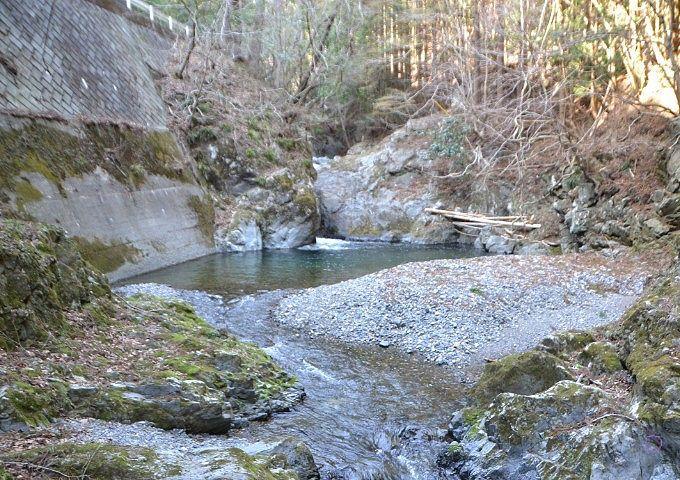 滝周辺の光景